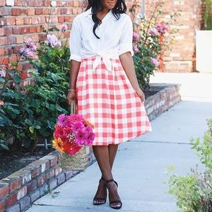Dresses & Skirts - Gingham A-line Skirt